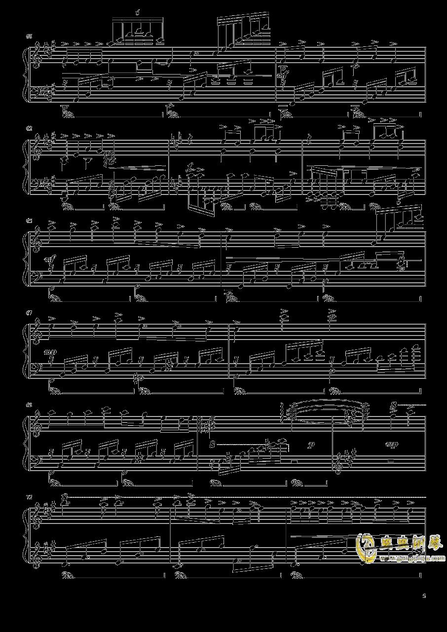 渡月桥思君钢琴谱 第5页