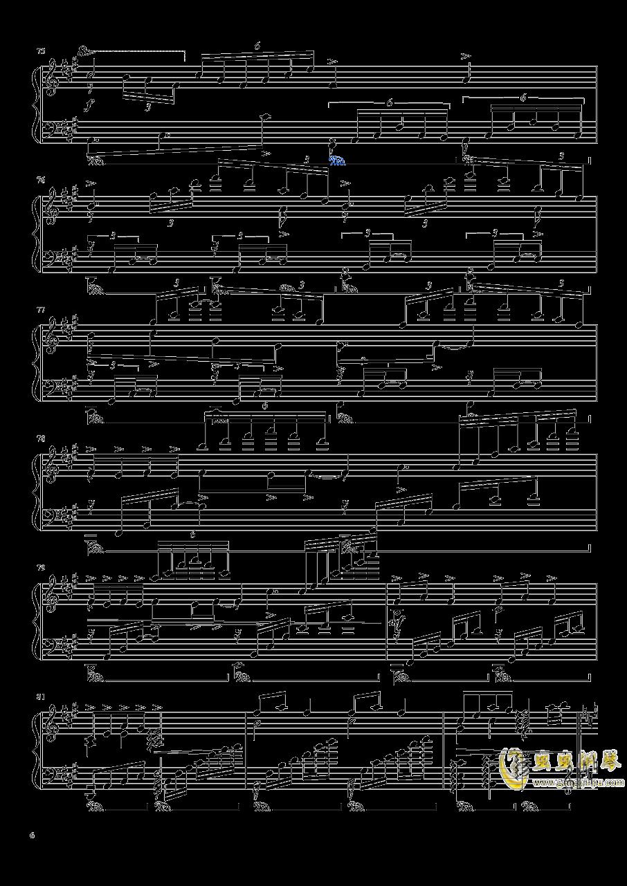 渡月桥思君钢琴谱 第6页
