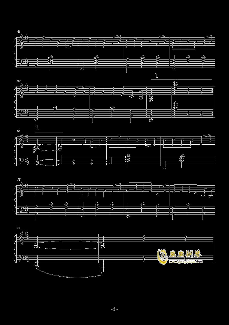 小圆舞曲钢琴谱 第3页