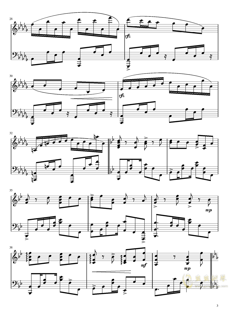 上海爱丽丝幻乐团还原钢琴谱 第3页