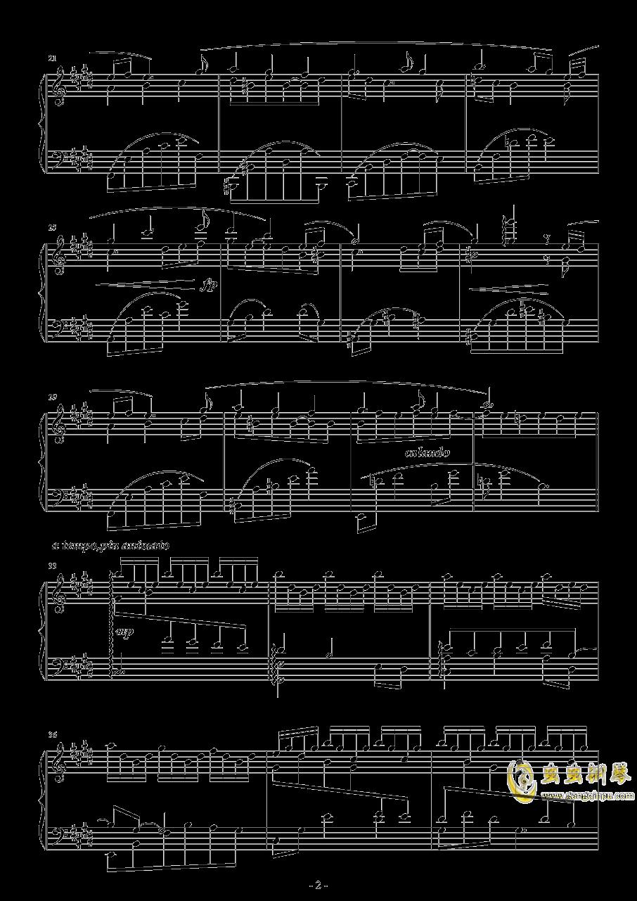 观雪钢琴谱 第2页