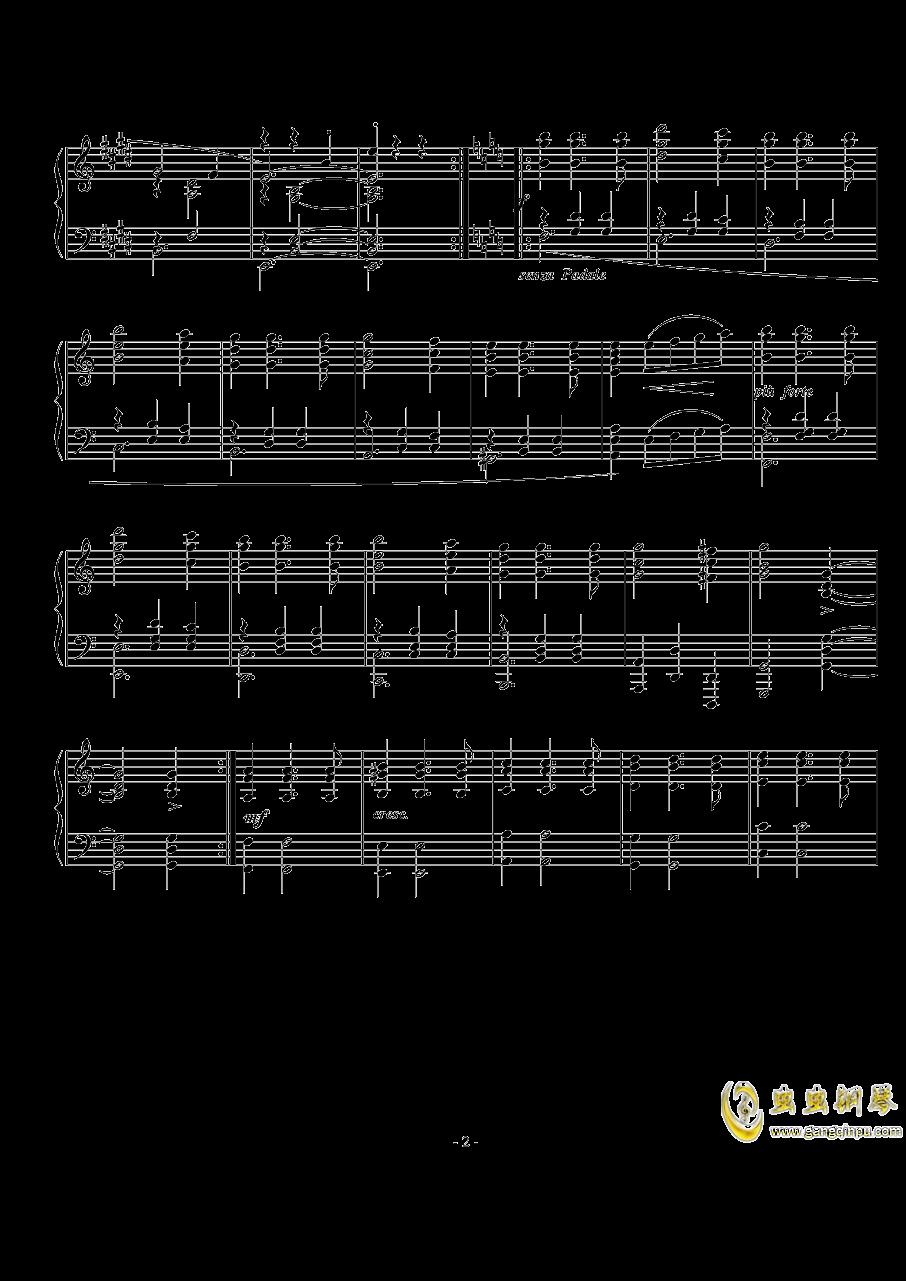 西贝柳斯《圆舞曲》Op.24  No.5 钢琴谱 第2页