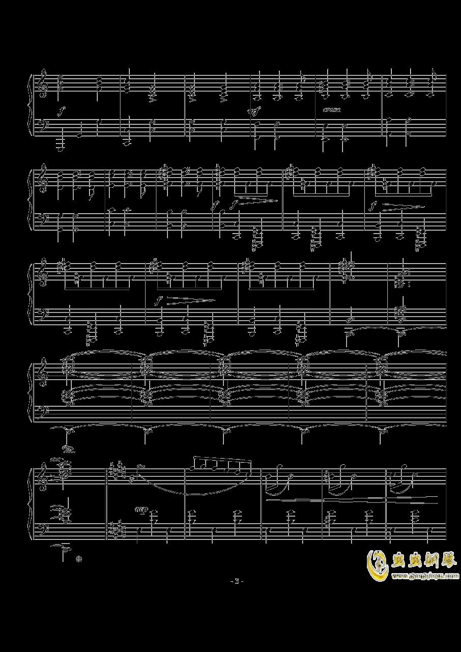 西贝柳斯《圆舞曲》Op.24  No.5 钢琴谱 第3页
