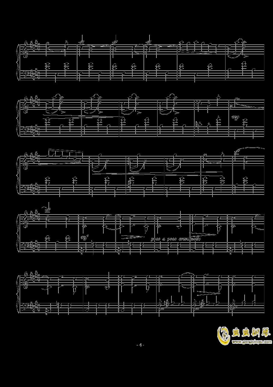西贝柳斯《圆舞曲》Op.24  No.5 钢琴谱 第4页