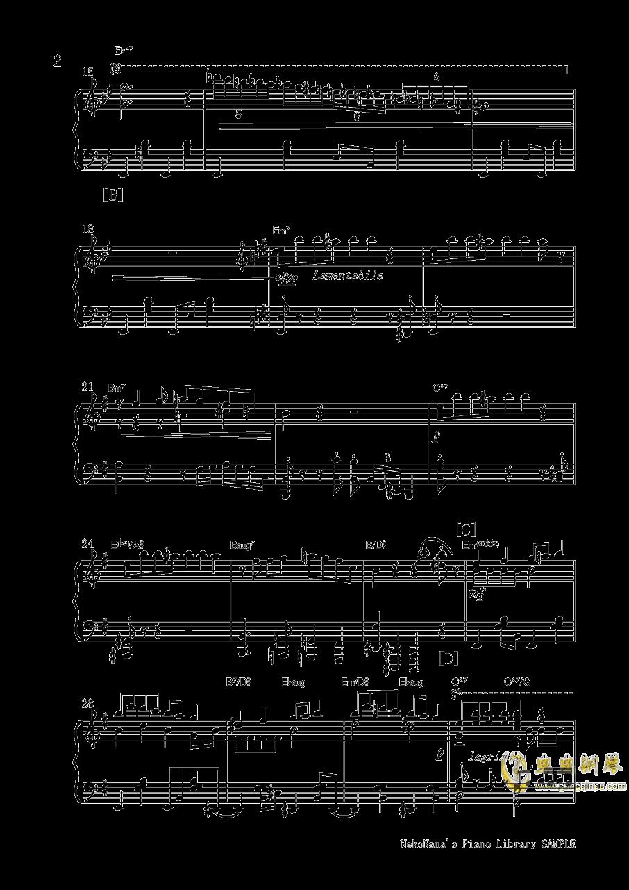 不幸屋の娘钢琴谱 第2页