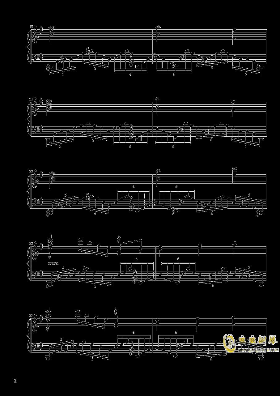 【东方project/� 方project】地��殛�!ぱる☆りん☆くう钢琴谱 第2页