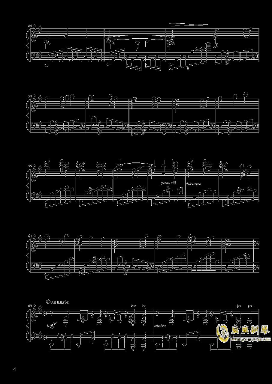 【东方project/� 方project】地��殛�!ぱる☆りん☆くう钢琴谱 第4页
