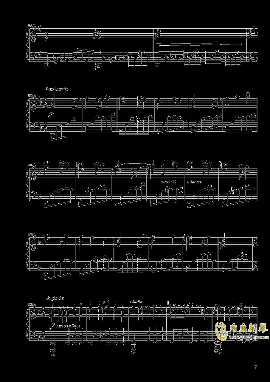 【东方project/� 方project】地��殛�!ぱる☆りん☆くう钢琴谱 第7页