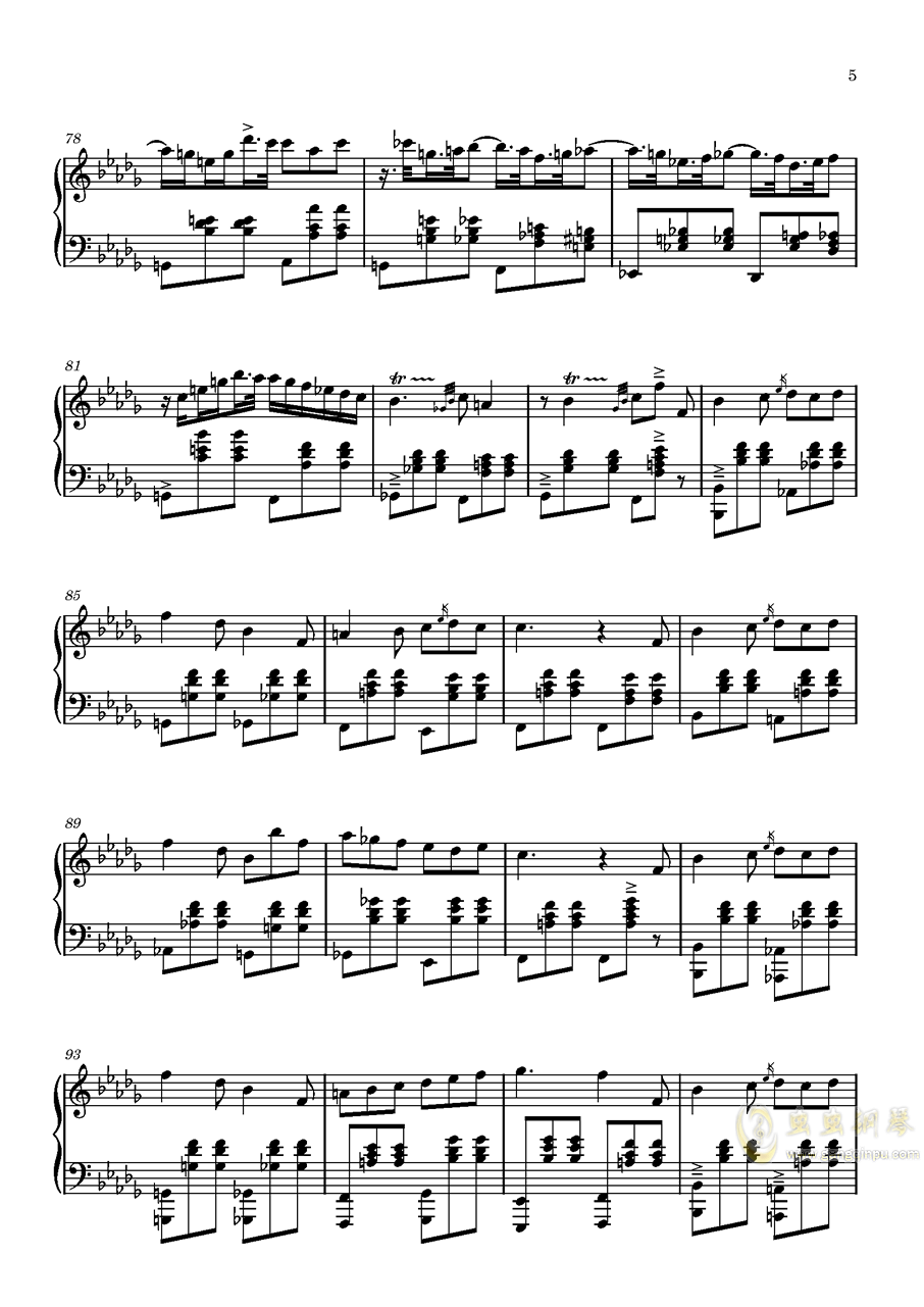 L1 圆舞曲钢琴谱 第5页