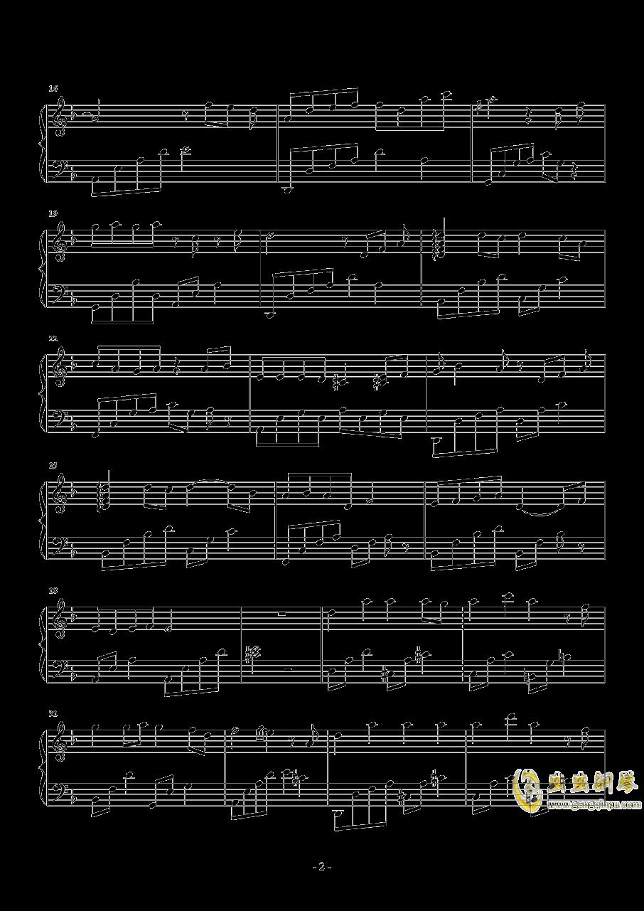 借钢琴谱 第2页