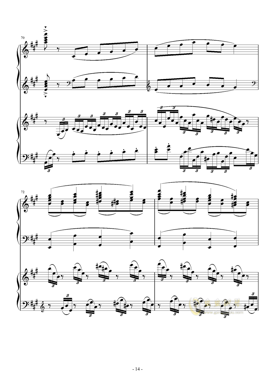 Piano Concerto No.6 in sharp F Minor Op.57 I.钱柜娱乐 第14页