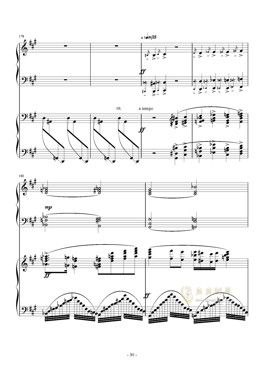 Piano Concerto No.6 in sharp F Minor Op.57 I.钱柜娱乐 第30页