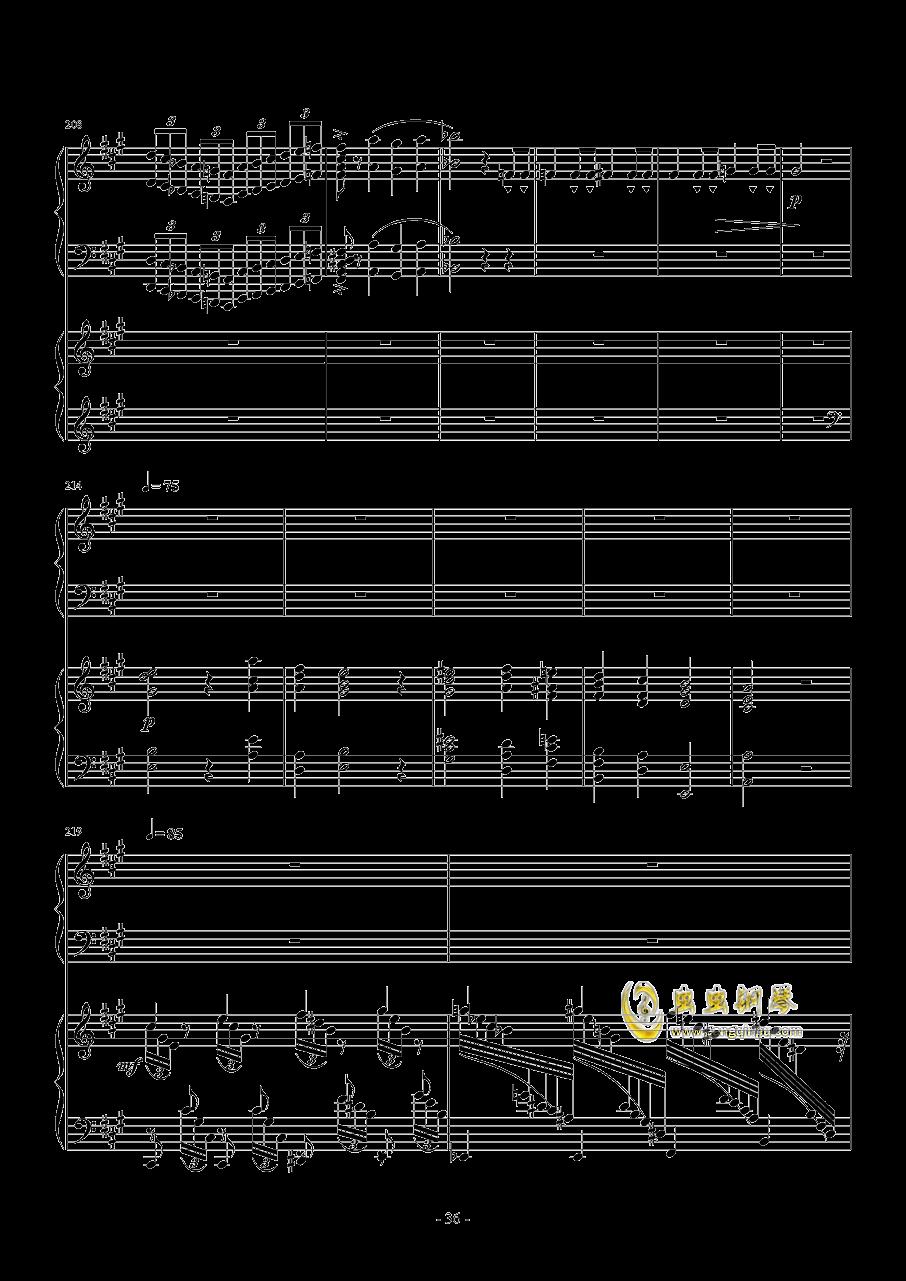 Piano Concerto No.6 in sharp F Minor Op.57 I.钱柜娱乐 第36页