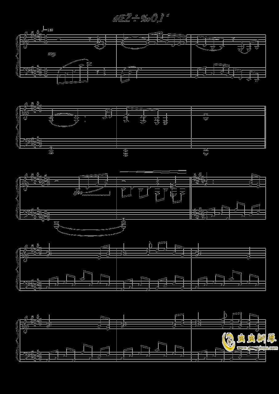 雪月樱花之国钢琴谱 第1页