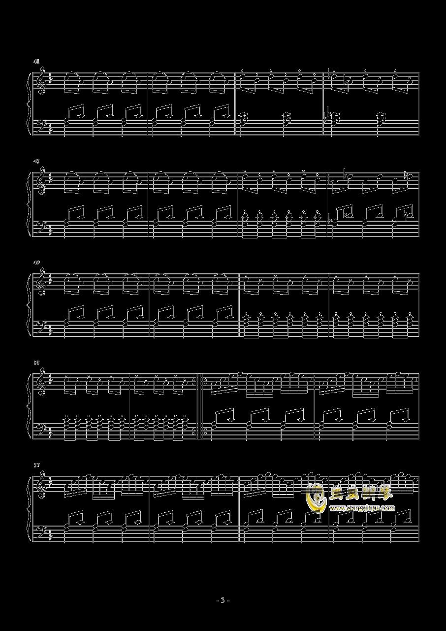菲利普・格拉斯    舞曲 之三钢琴谱 第3页