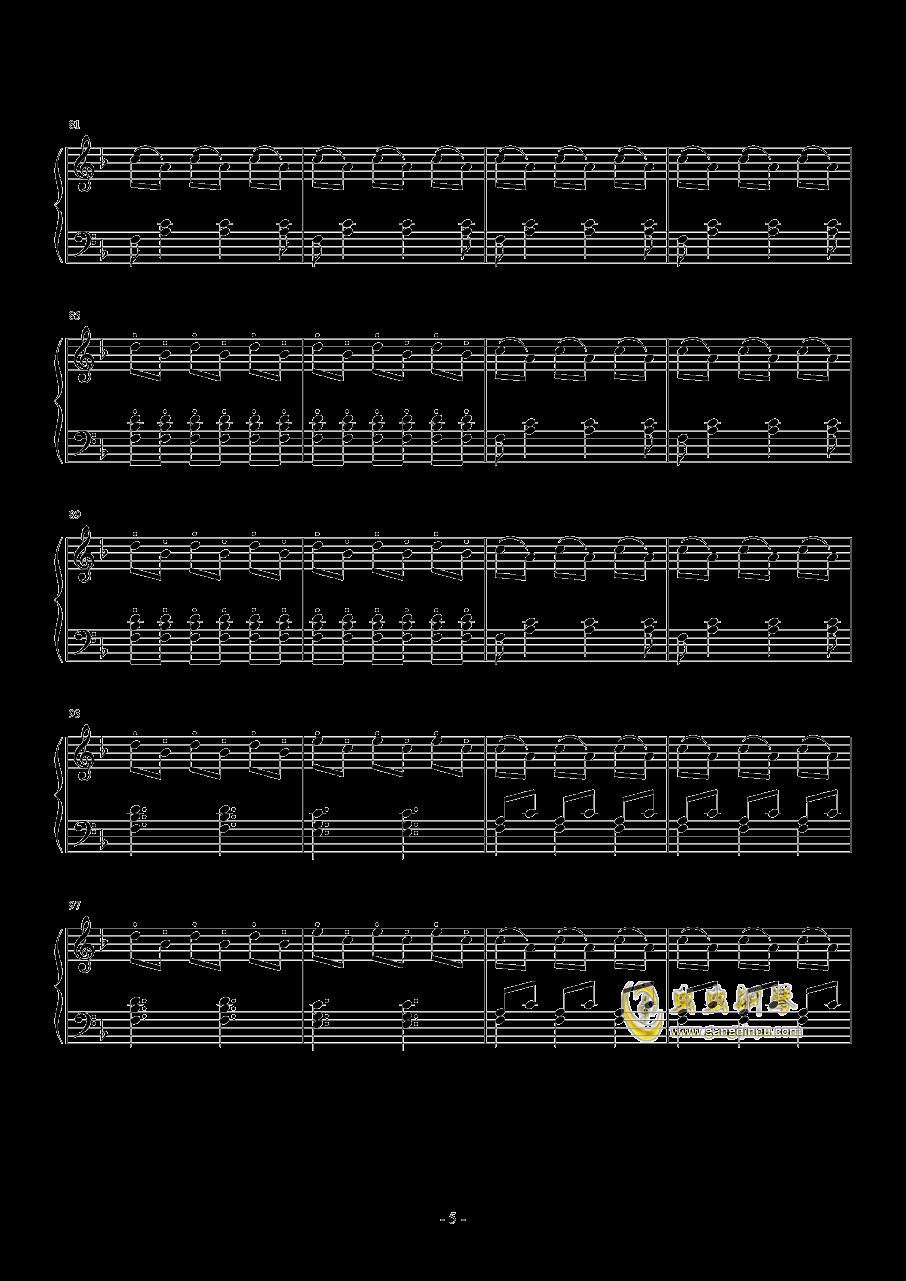 菲利普・格拉斯    舞曲 之三钢琴谱 第5页
