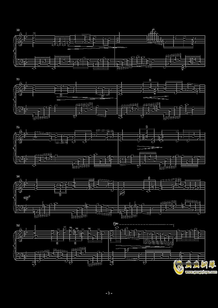 g小�{�S想曲钢琴谱 第3页