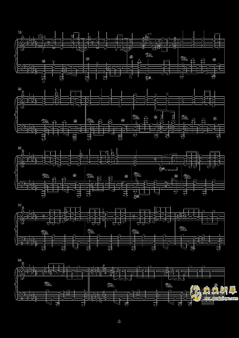 亡命之徒钢琴谱 第2页