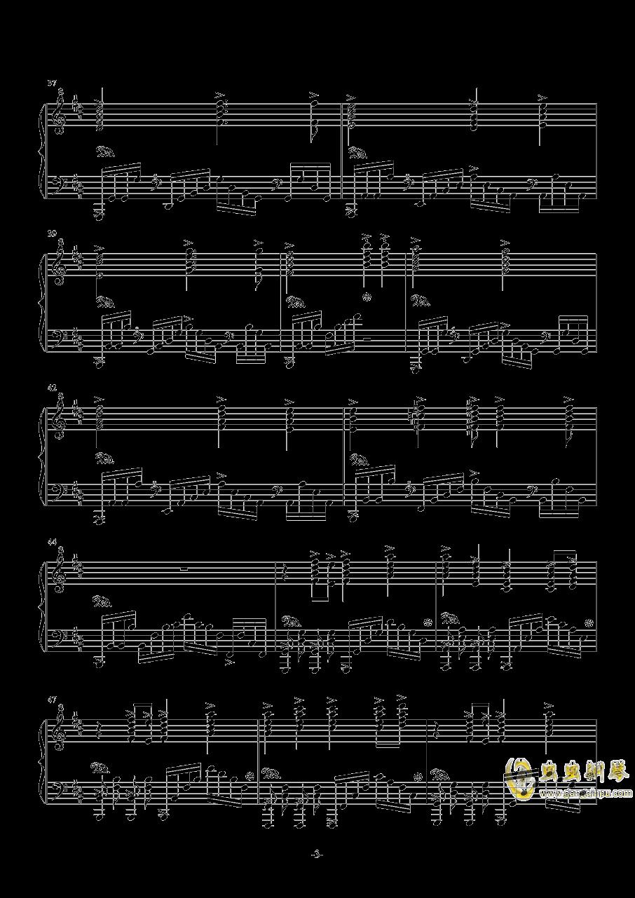 亡命之徒钢琴谱 第3页