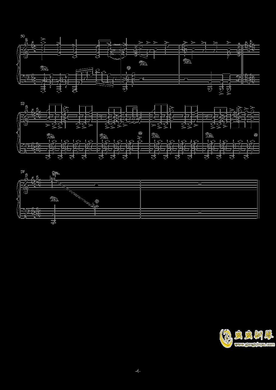 亡命之徒钢琴谱 第4页
