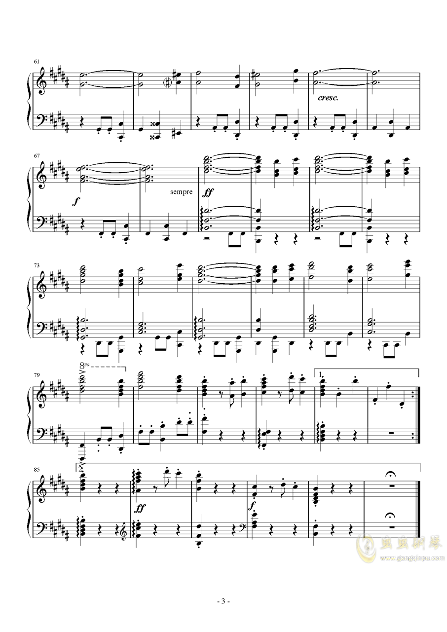 B大调第一钢琴三重奏钢琴谱 第3页