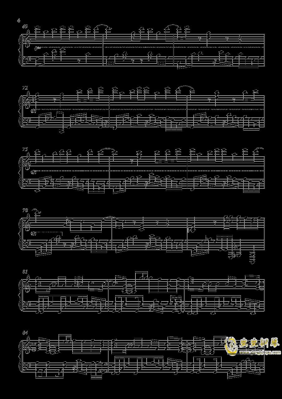 演员钢琴谱 第4页
