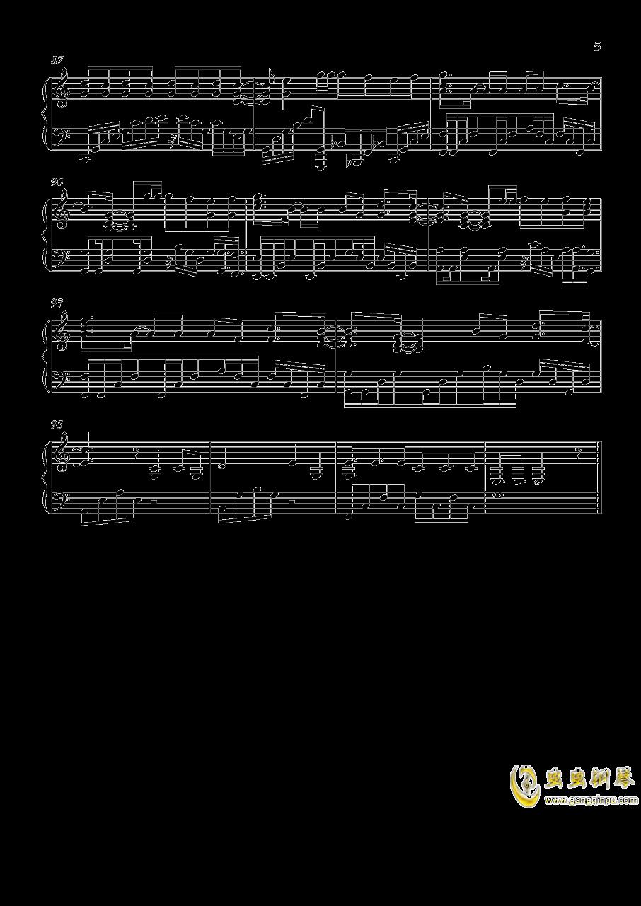 演员钢琴谱 第5页