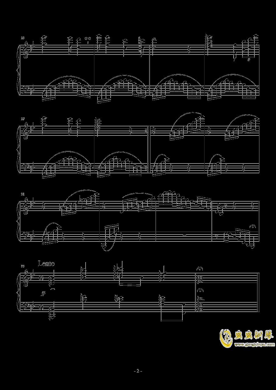 降B大调前奏曲钢琴谱 第2页