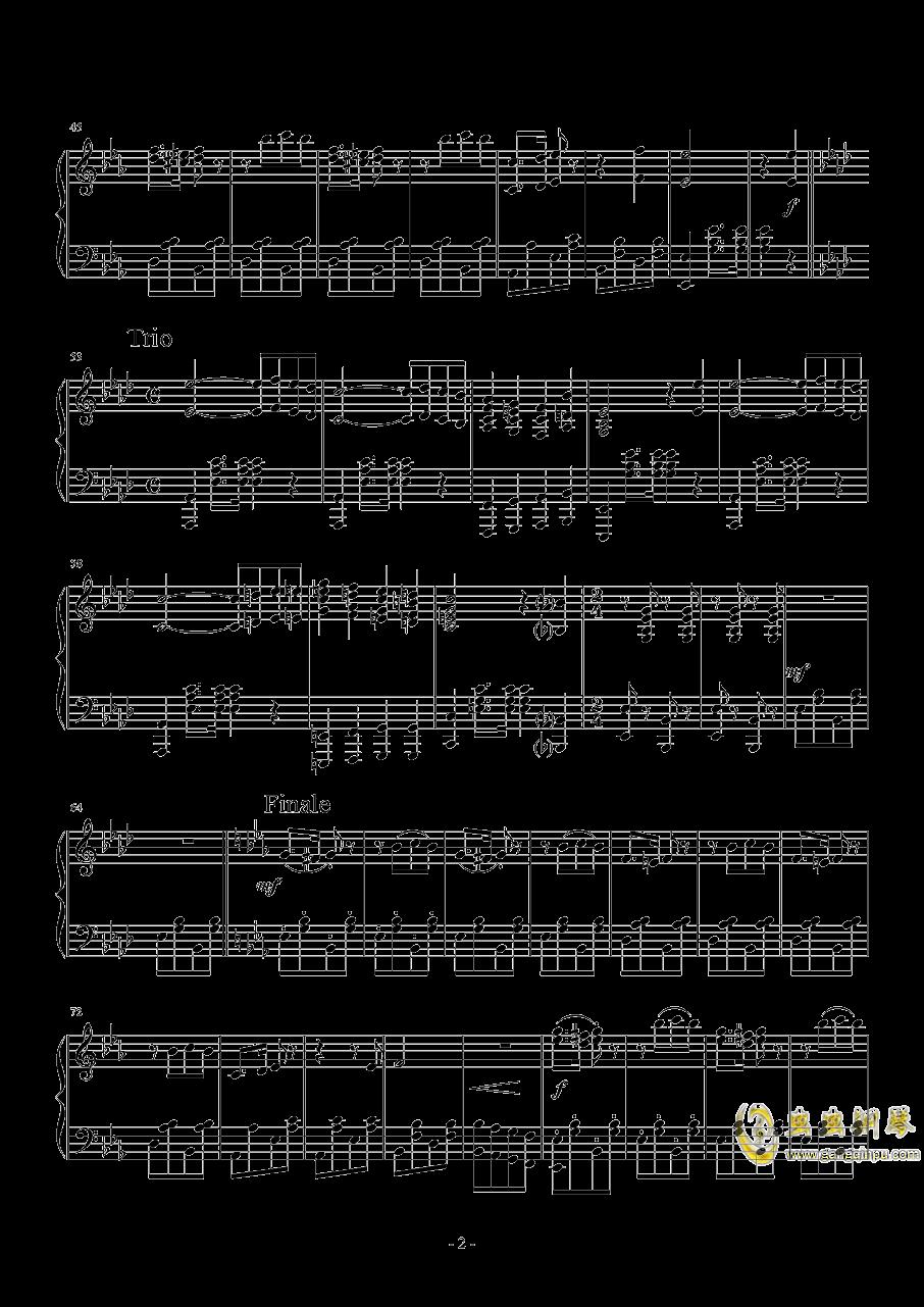 小狗进行曲钢琴谱 第2页