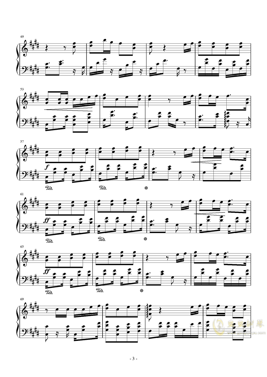 Shape Of You钢琴谱 第3页