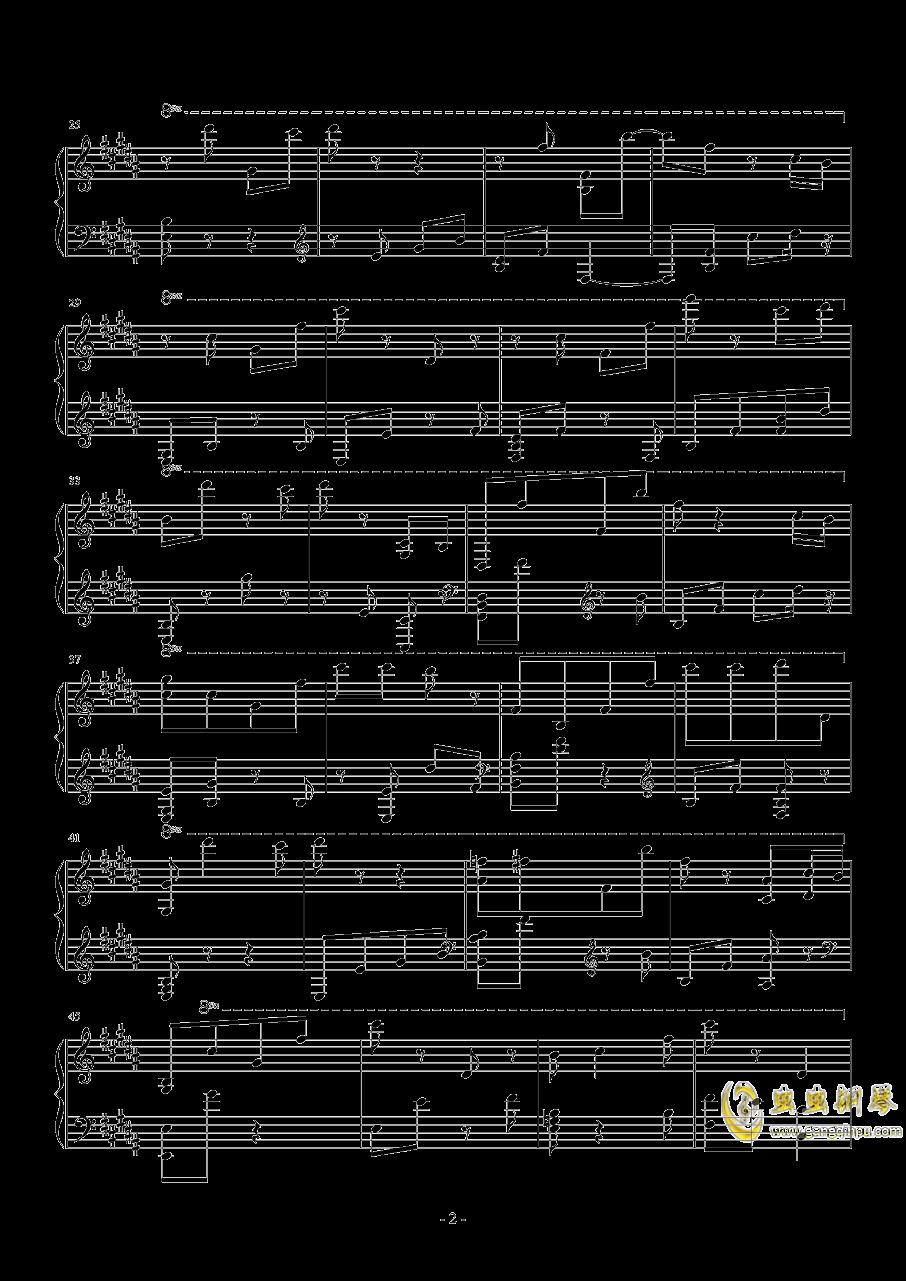 寻找天堂钢琴谱 第2页