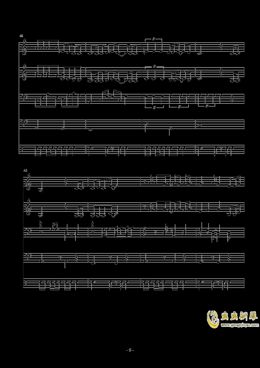 when i钢琴谱 第6页