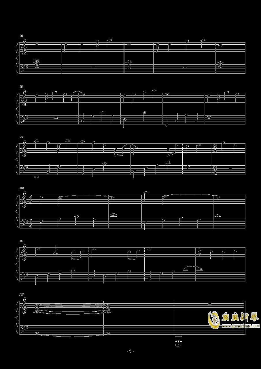 关键词钢琴谱 第5页