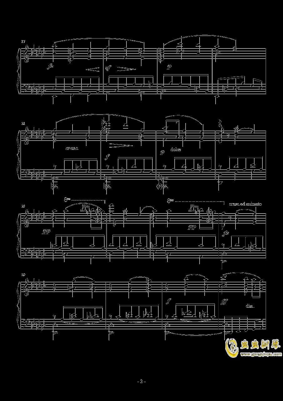 车尔尼   降G大调练习曲  Op.756  No.5钢琴谱 第2页