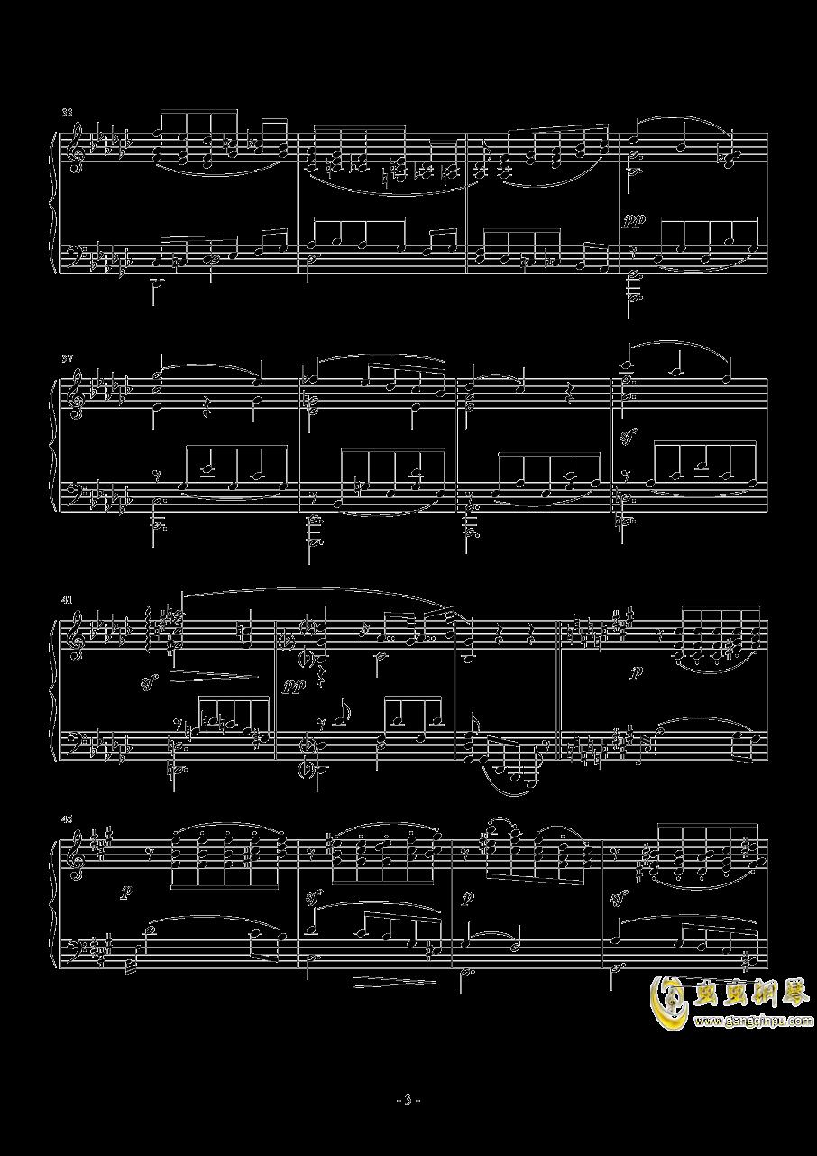 车尔尼   降G大调练习曲  Op.756  No.5钢琴谱 第3页