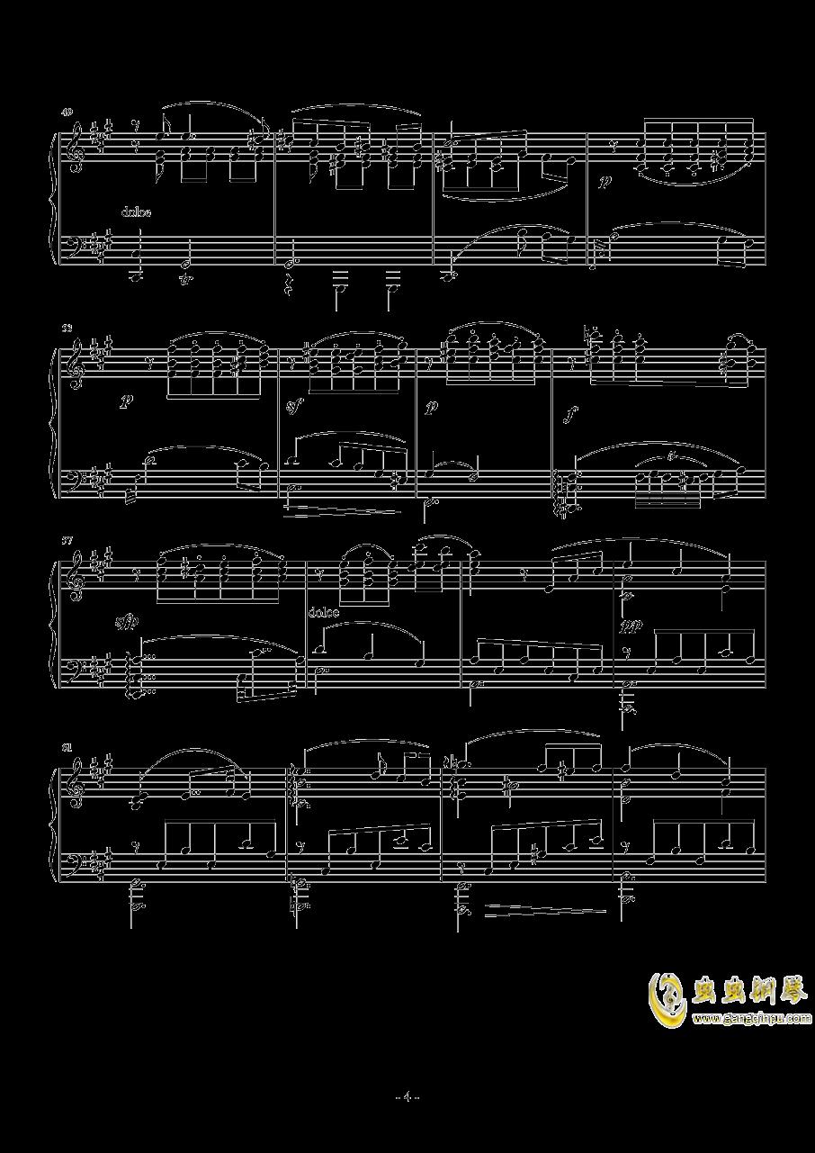 车尔尼   降G大调练习曲  Op.756  No.5钢琴谱 第4页