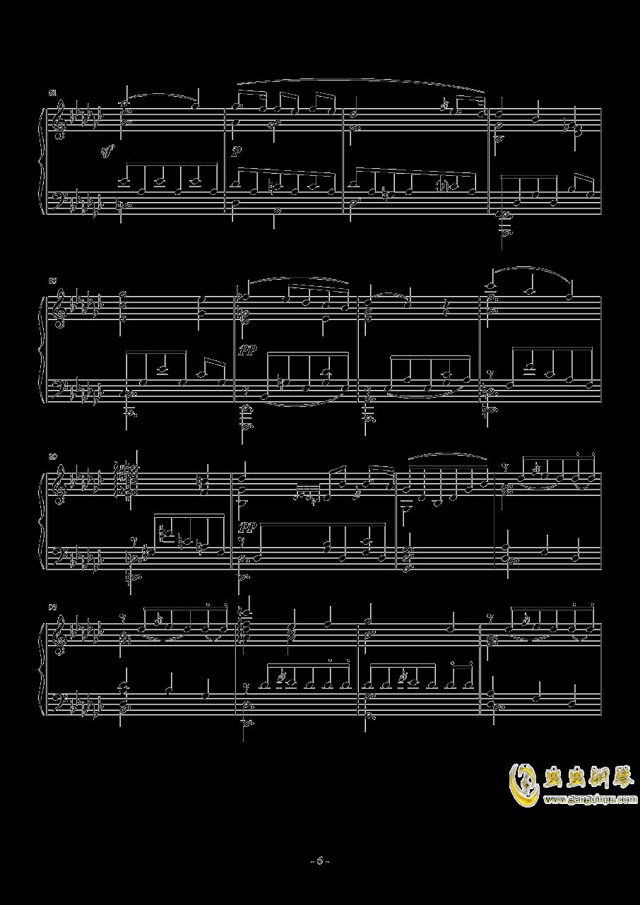 车尔尼   降G大调练习曲  Op.756  No.5钢琴谱 第6页