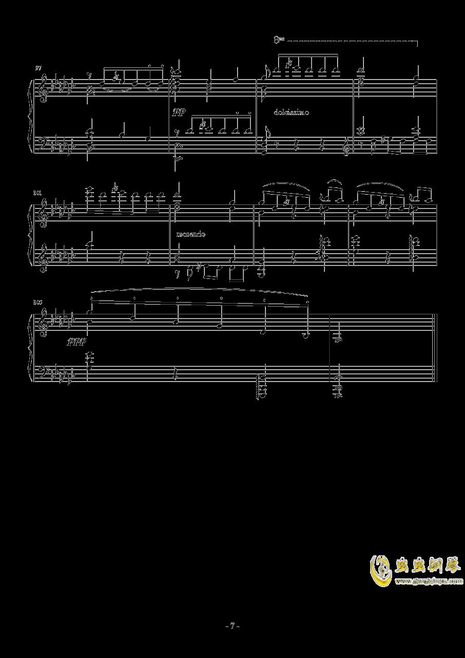 车尔尼   降G大调练习曲  Op.756  No.5钢琴谱 第7页