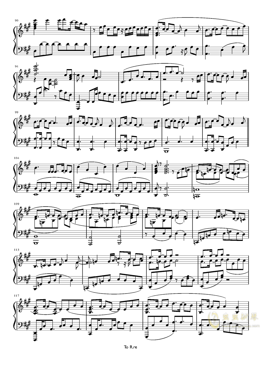 Sonw Fairy Story钢琴谱 第5页