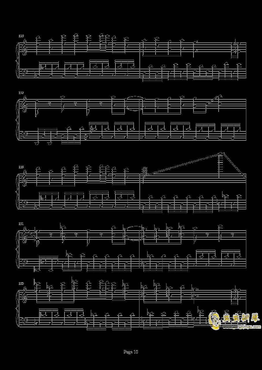 死亡华尔兹钢琴谱 第10页