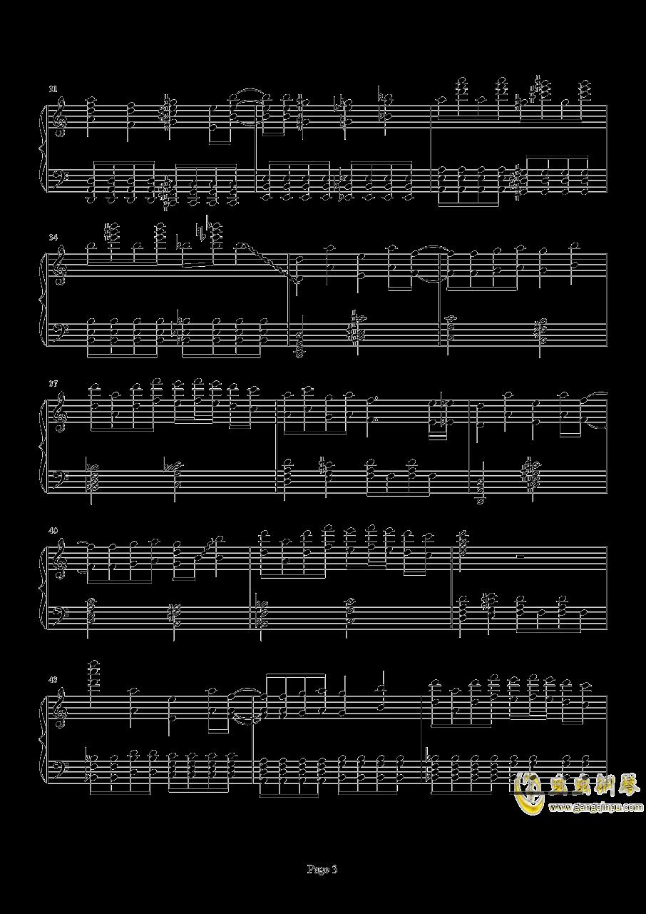 死亡华尔兹钢琴谱 第3页