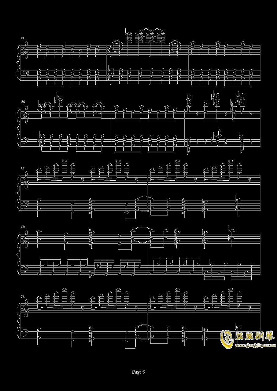 死亡华尔兹钢琴谱 第5页