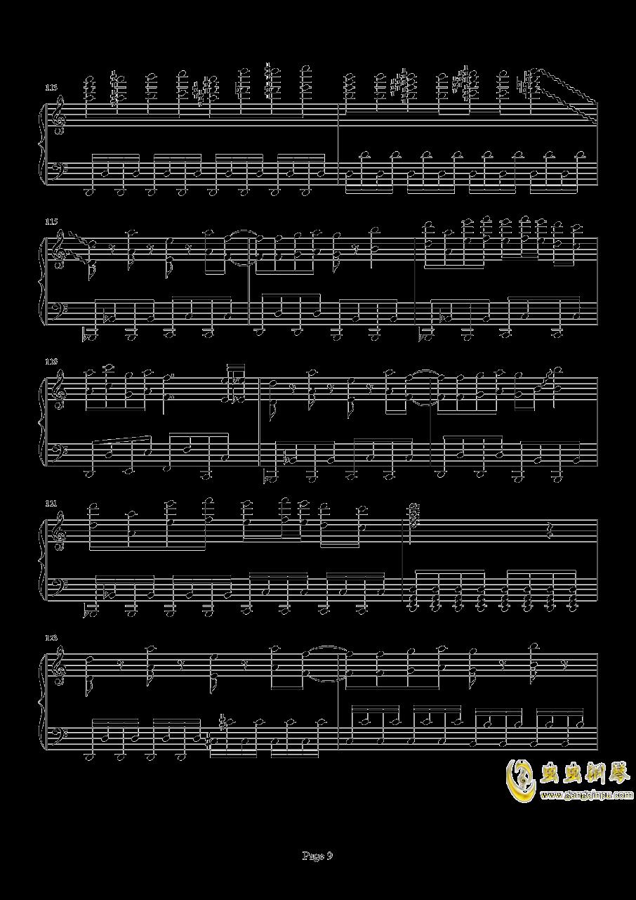 死亡华尔兹钢琴谱 第9页