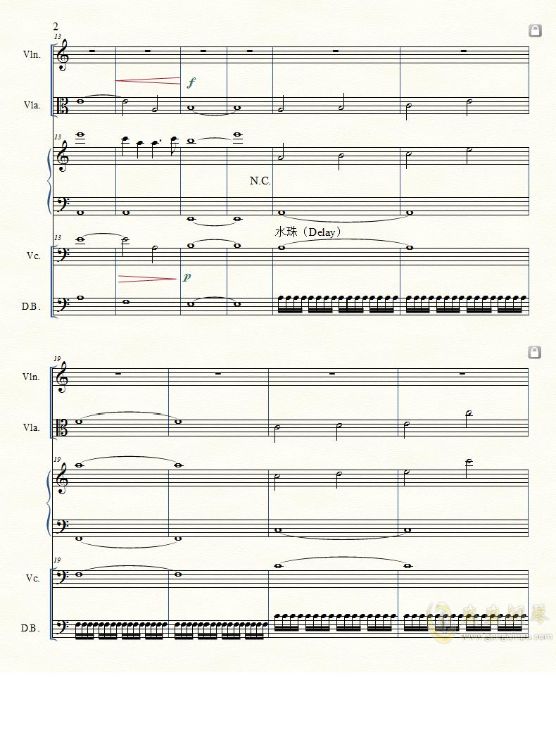 Last Reunion钢琴谱 第2页