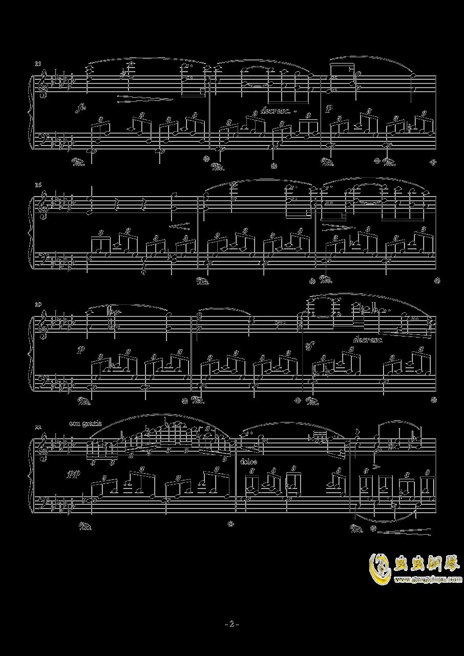 降e小调浪漫曲钢琴谱 第2页