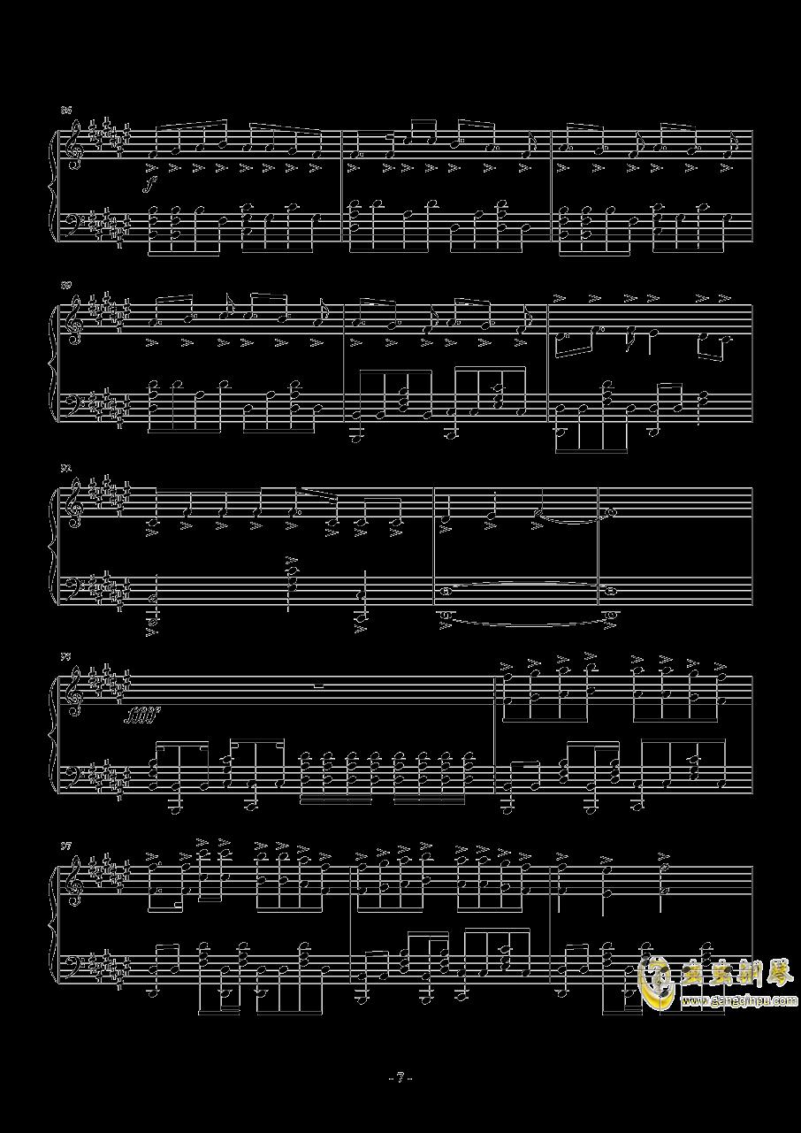 さユり-ミカヅキ(动漫《乱步奇谭》ED)钢琴谱 第7页