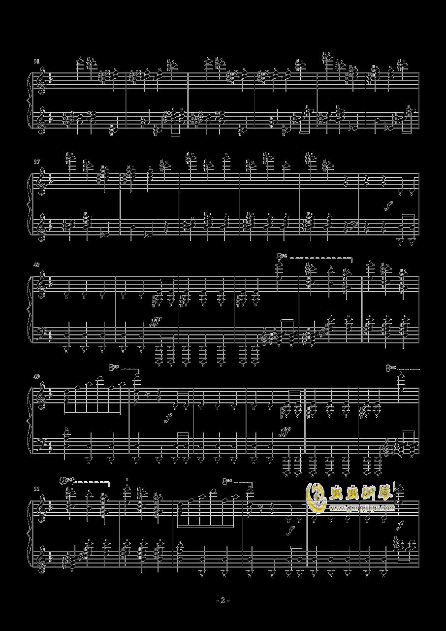 布鲁克纳  d小调第九交响曲  第二乐章  谐谑曲钢琴谱 第2页