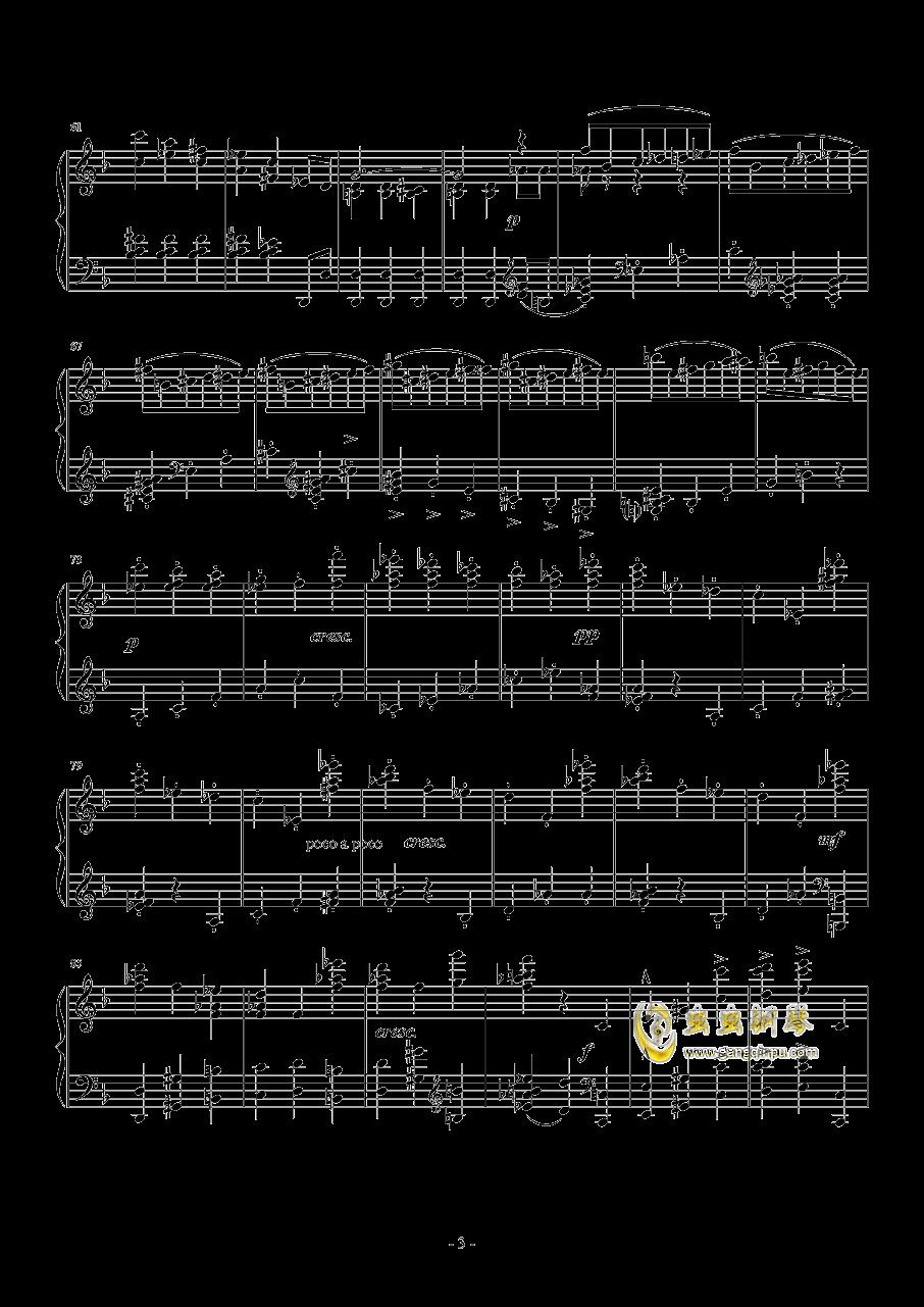 布鲁克纳  d小调第九交响曲  第二乐章  谐谑曲钢琴谱 第3页