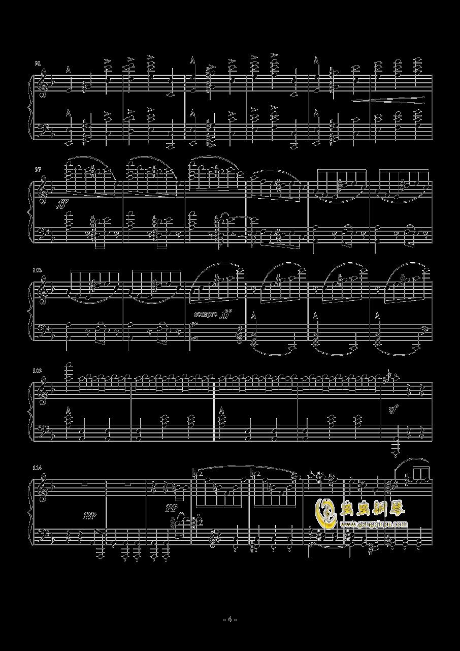 布鲁克纳  d小调第九交响曲  第二乐章  谐谑曲钢琴谱 第4页