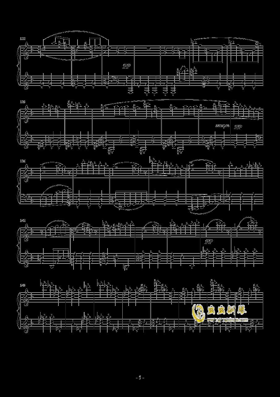 布鲁克纳  d小调第九交响曲  第二乐章  谐谑曲钢琴谱 第5页